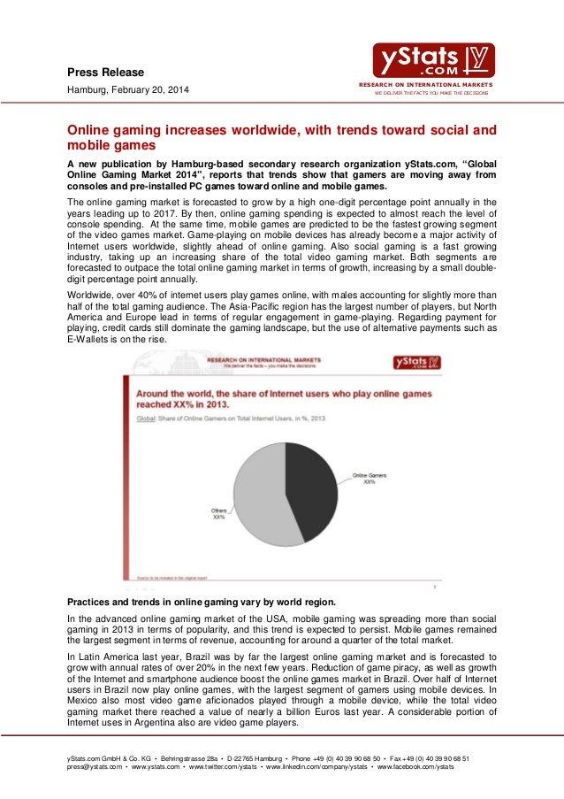 Global Online Gaming Market 2014