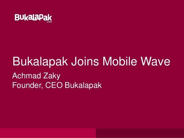 Bukalapak Mobile App