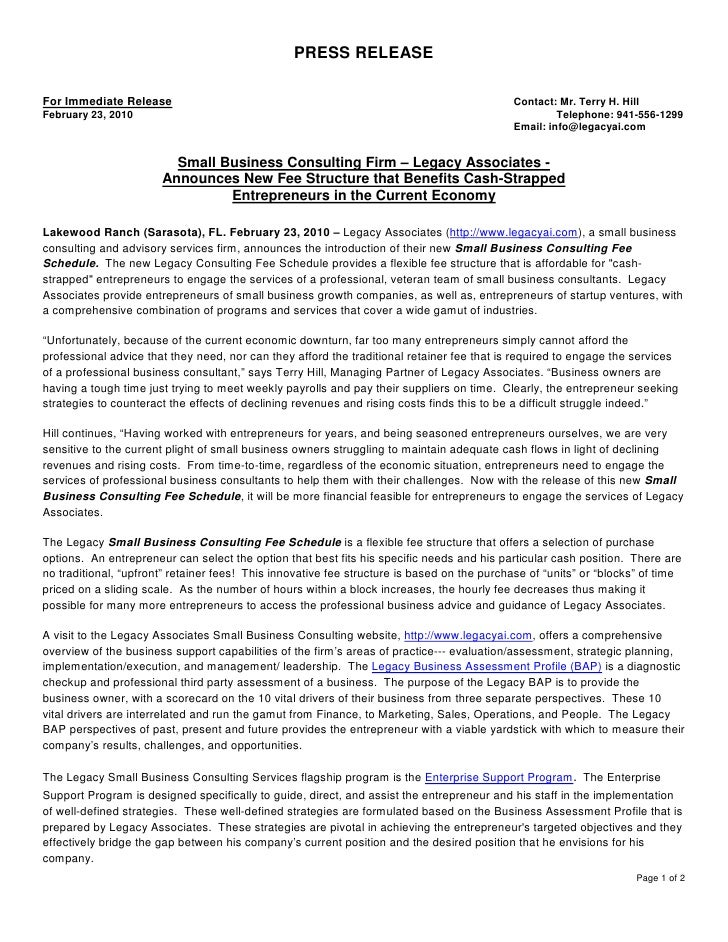 PRESS RELEASE  For Immediate Release                                                                       Contact: Mr. Te...