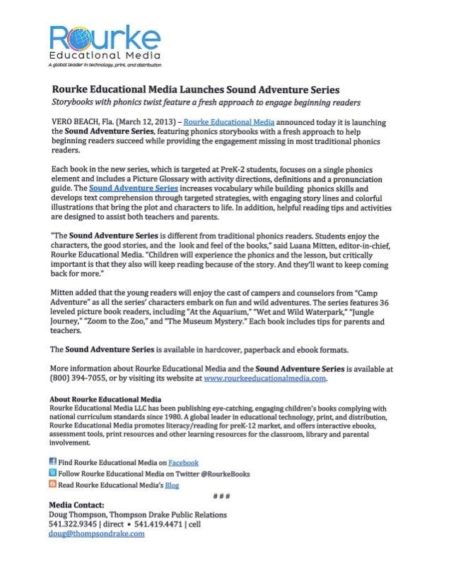 Rourke Press release sound adventures