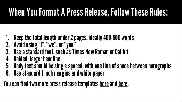 album press release template - press release format instructions easy to use template