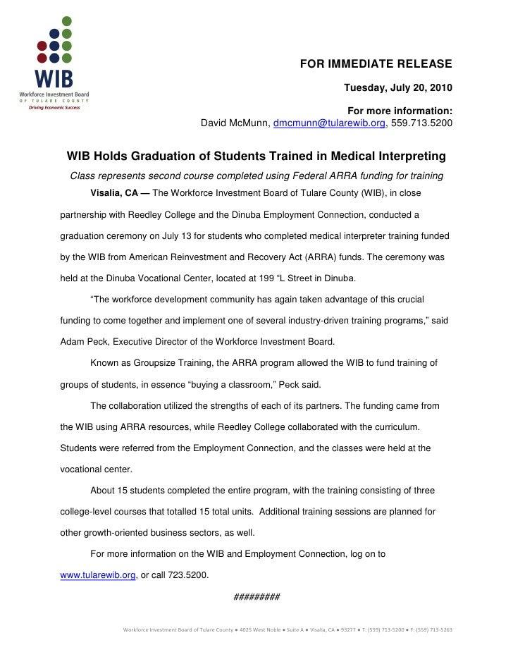 Press releasewibhci graduation7.20.2010