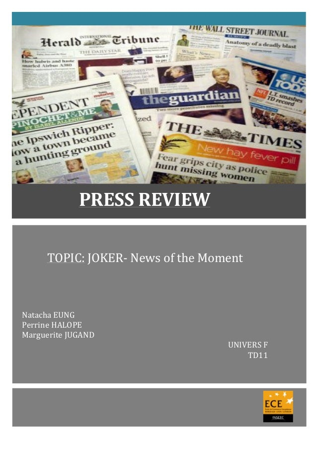 TOPIC:	   JOKER-­‐	   News	   of	   the	   Moment	   	   	   	   	   	   	    	    	    	    	    	    	    Natacha	   E...