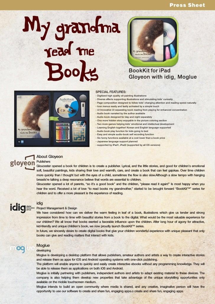 My grandma read's me books BookKit for iPad