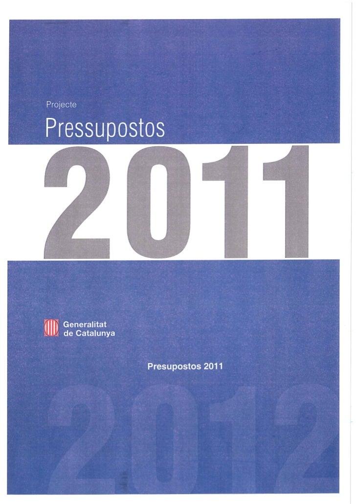 Pressupostos CAC 2011