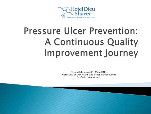 Pressure ulcer prevention hotel dieu shaver health and rehabilitation centre
