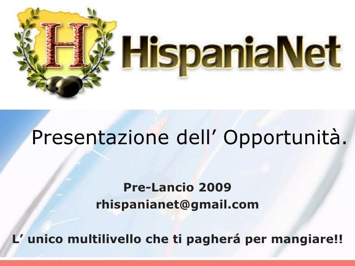 Presentazione di Hispanianet
