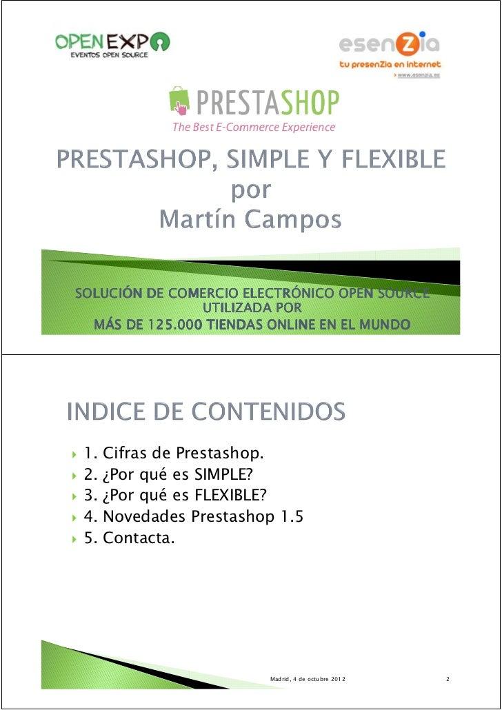 OpenExpo Ecommerce - PrestaShop, simple y flexible