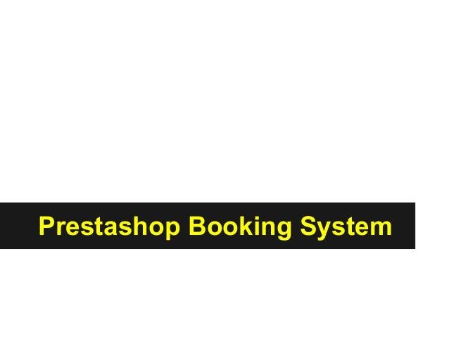 Prestashop Booking System