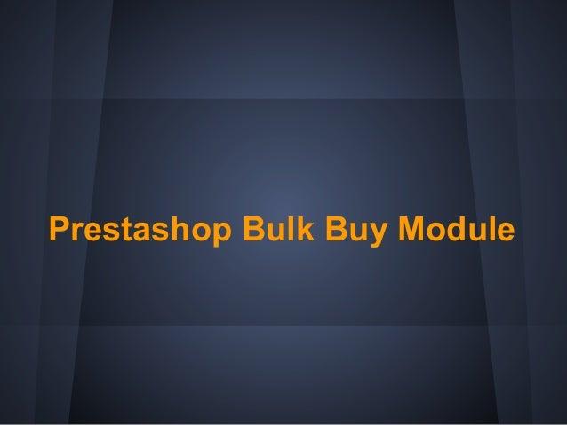 Prestashop Bulk Buy Module