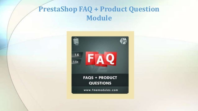 FME's PrestaShop Frequently Asked Question and Answer Extension