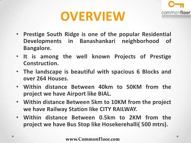 Prestige South Ridge