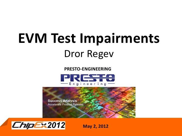Evm Test Impairements