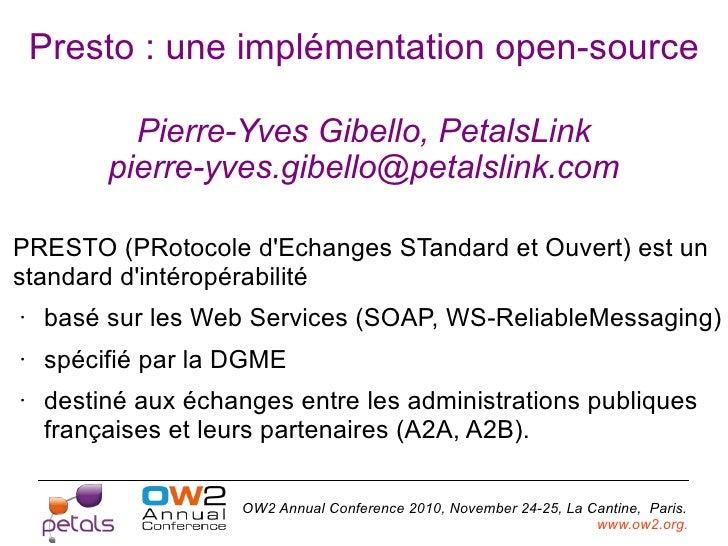 Presto standard OW2 Conference-nov10