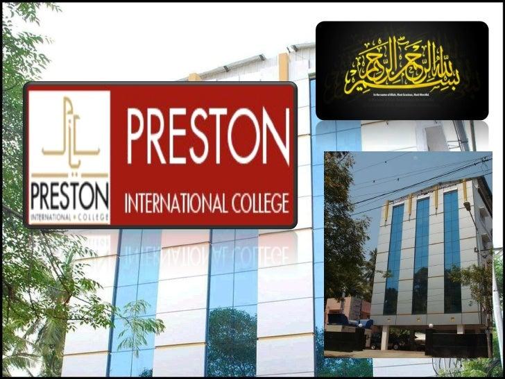 Preston International College