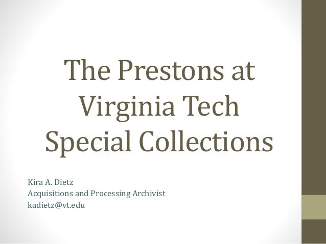 Prestons at Special Collections, May 2014
