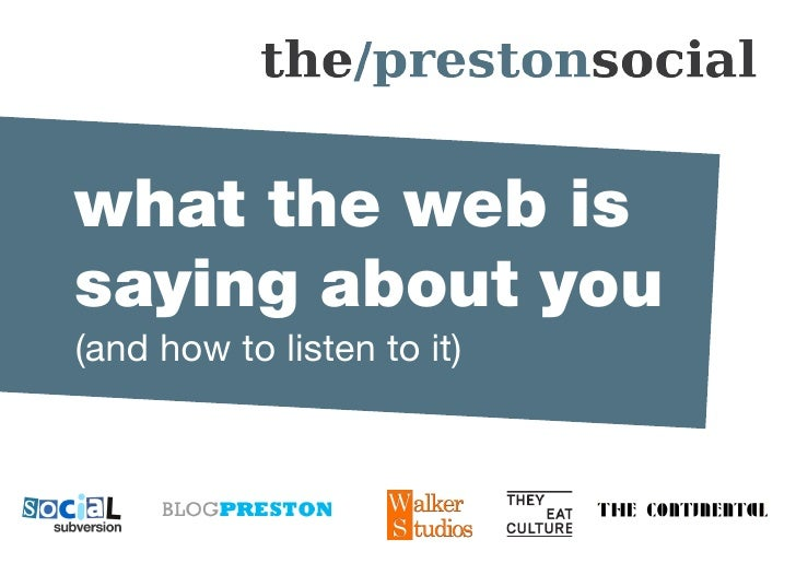 The Preston Social - What the Web is Saying