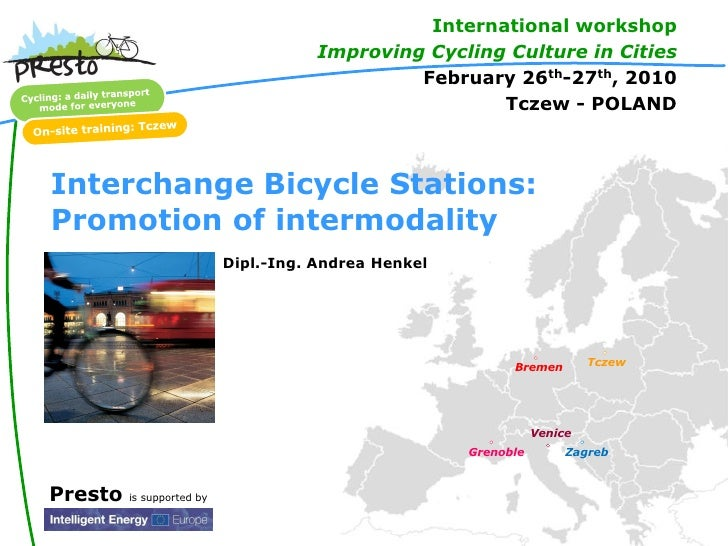 International workshop                                       Improving Cycling Culture in Cities                          ...