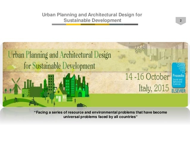 Urban Planning And Architectural Design For Sustainable Development