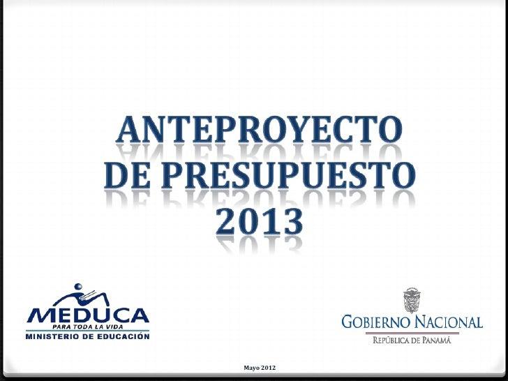 P resupesto institucional 2013