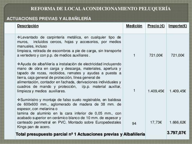 Presupuesto de obra local for Presupuesto piscina obra