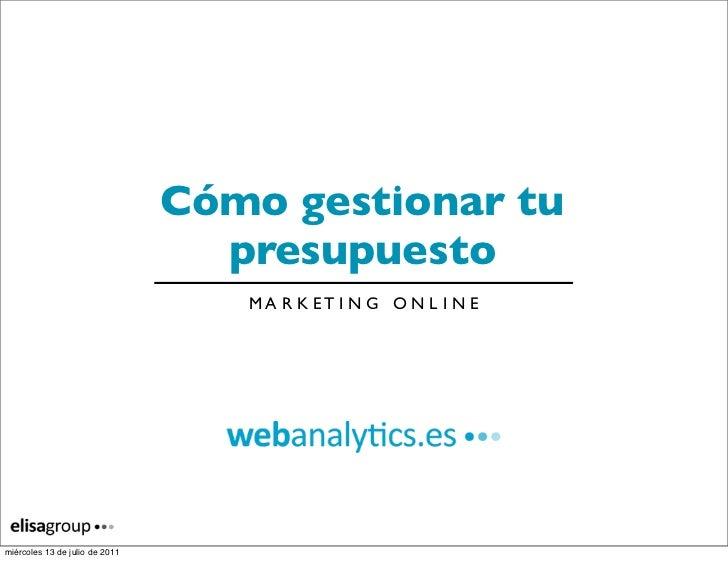 Presupuesto de Marketing  online para un eCommerce