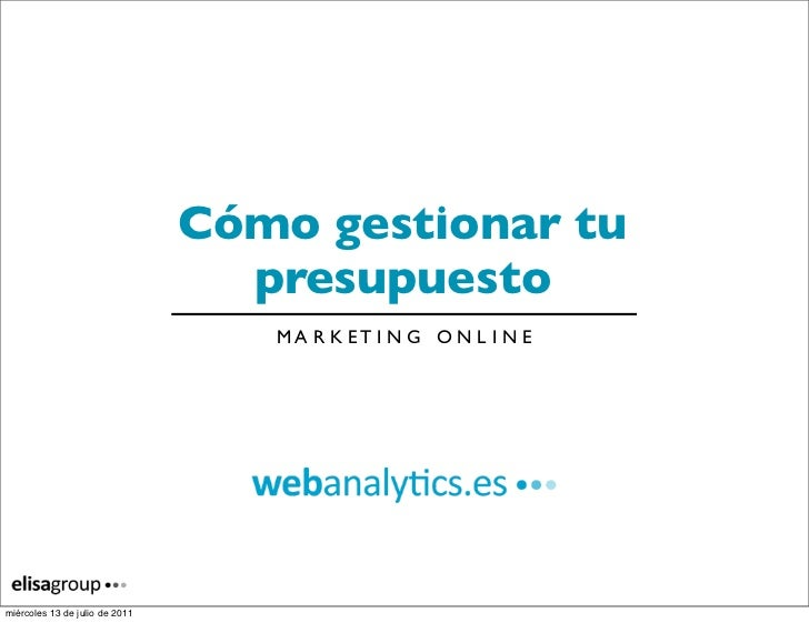 Presupuesto de marketing online para tu eCommerce