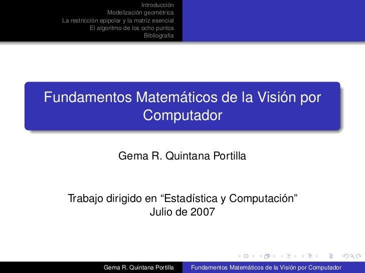 VXC: Computer Vision Presentation