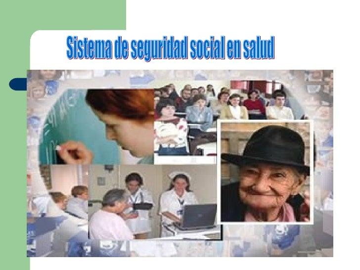 Sistema de seguridad social en salud