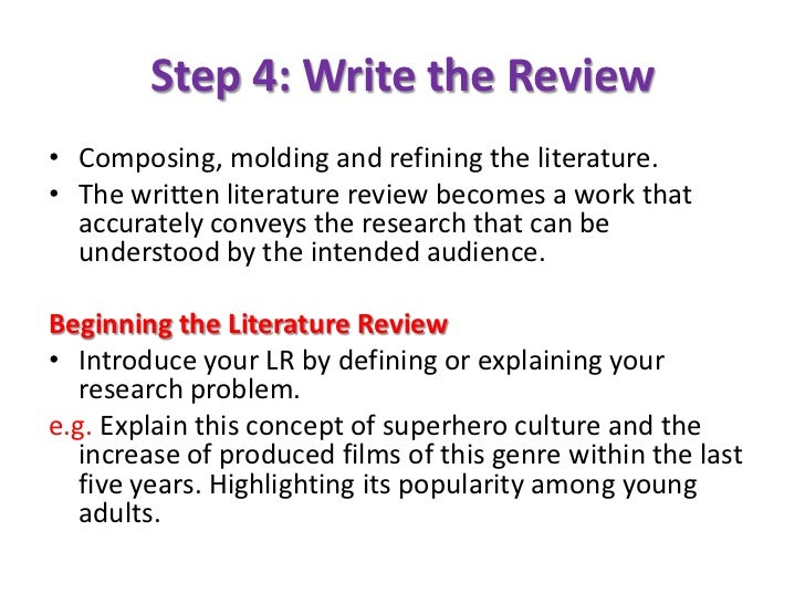 literature review of research articles