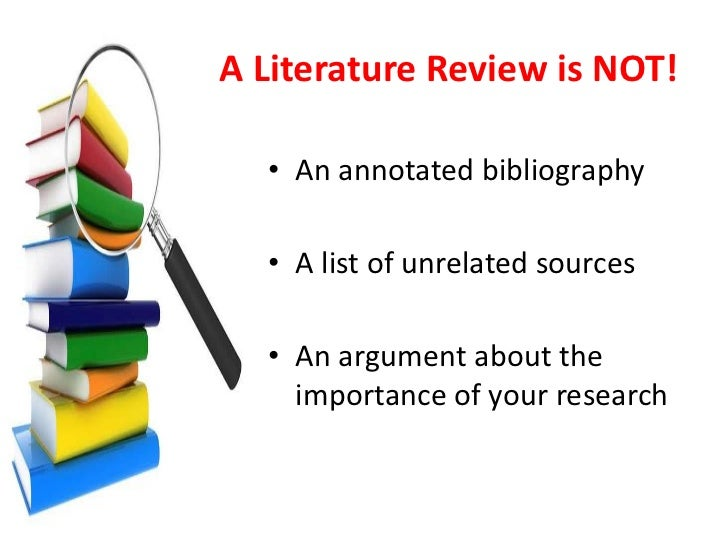 Looking at information sources - Literature Review