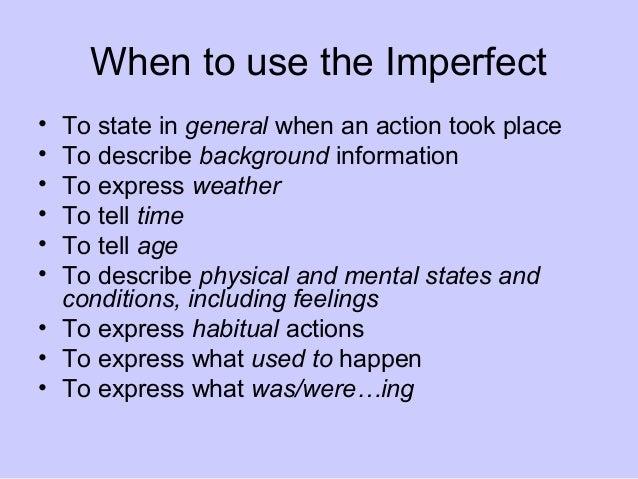 Preterite Vs Imperfect Ppt