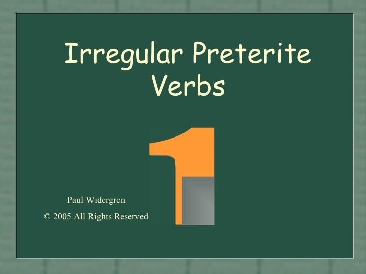 Preterito irregulares