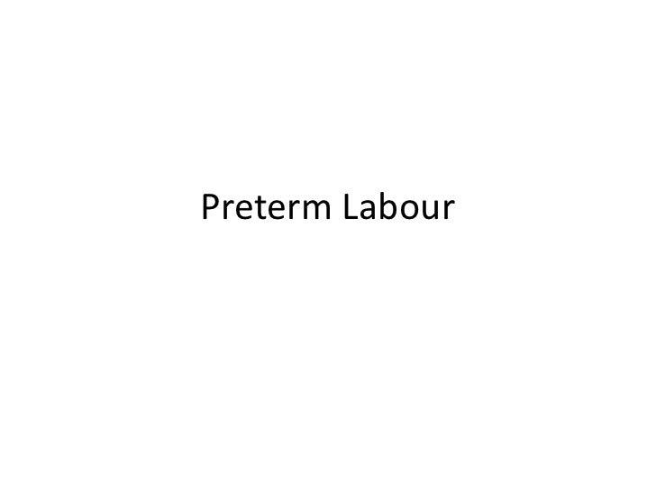 Preterm Labour<br />