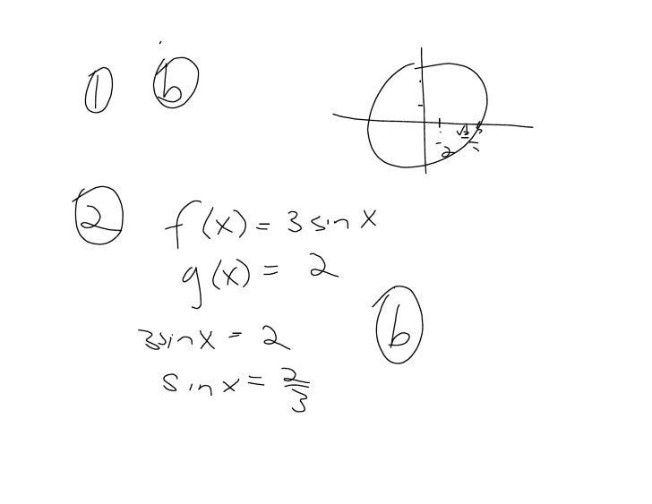 Pretest Circular Functions