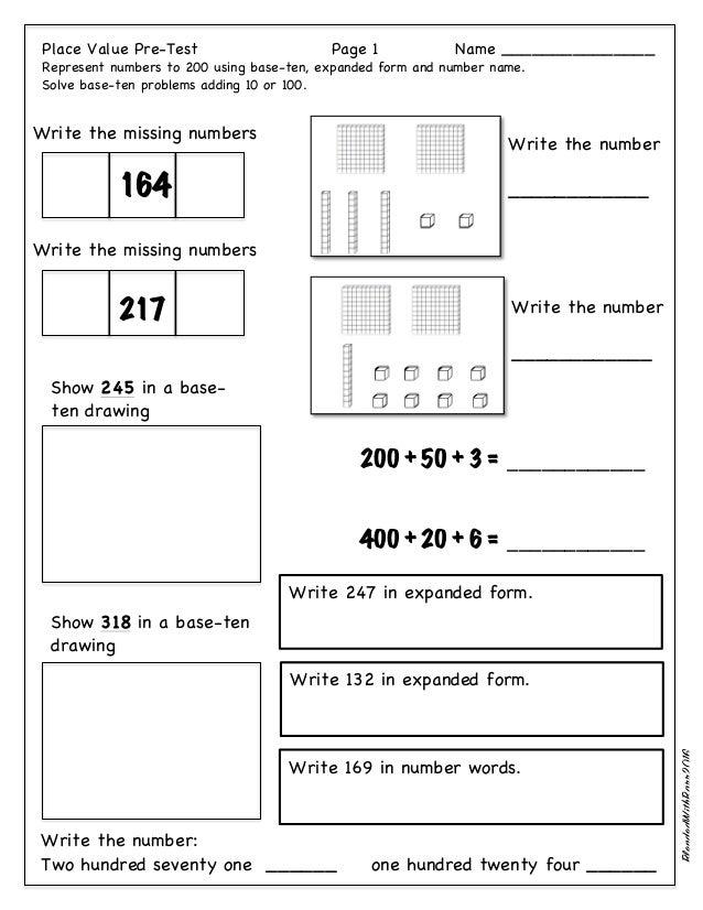 Base ten worksheets grade 1