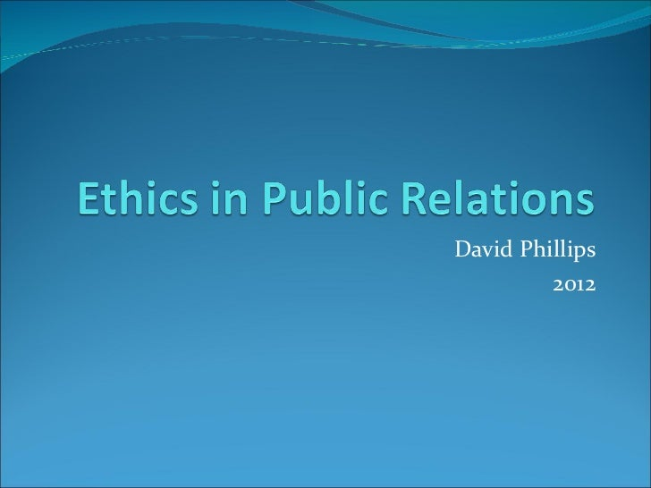 Ethics Lecture 2012