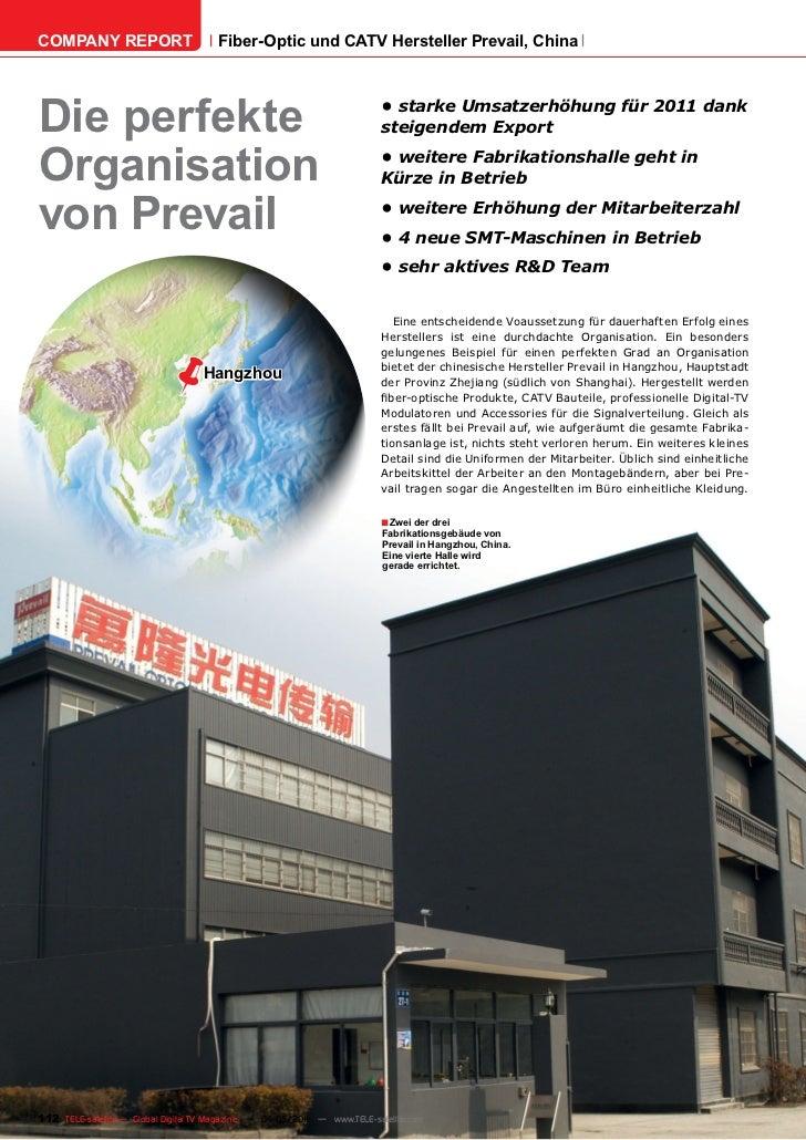 COMPANY REPORT                         Fiber-Optic und CATV Hersteller Prevail, ChinaDie perfekte                         ...