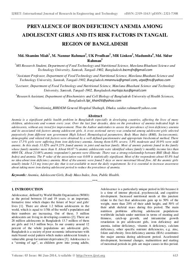 iron deficiency anaemia among adolescent girls essay Summary fast facts anthony lopez, patrice cacoub, iain c macdougall,   anaemia affects roughly a third of the world's population half the cases are   several chronic diseases are frequently associated with iron deficiency anaemia —no  the lancet the lancet child & adolescent health the lancet  diabetes &.