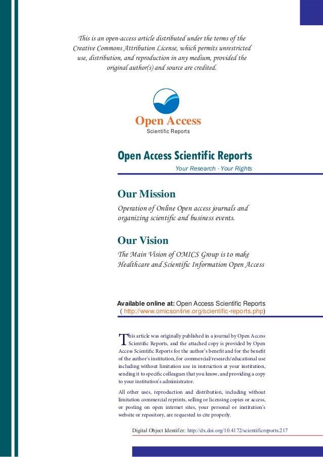 Open Access             Scientific ReportsOpen Access Scientific Reports                           Your Research - Your Ri...