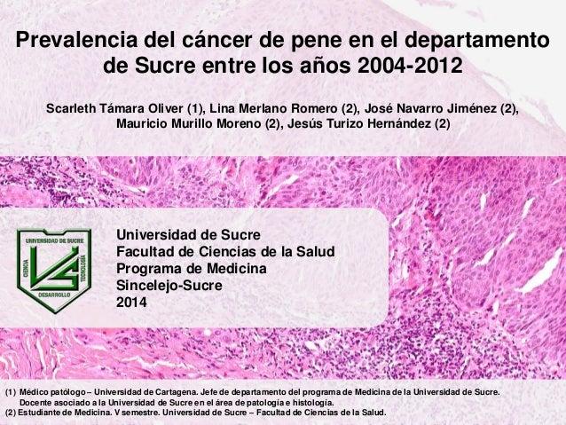 Prevalencia del cáncer de pene en el departamento de Sucre entre los años 2004-2012