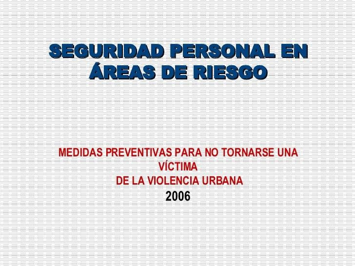 Prevención Urbana
