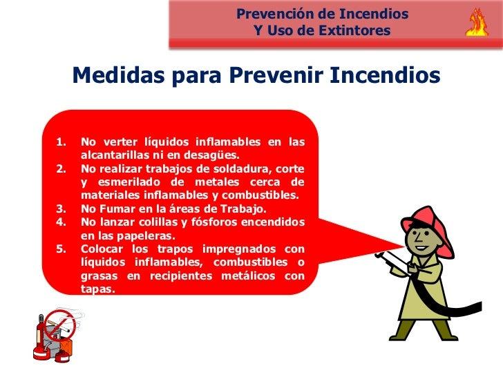 Fuego medidas de prevenci n diccionario de riesgos for Medidas contra incendios