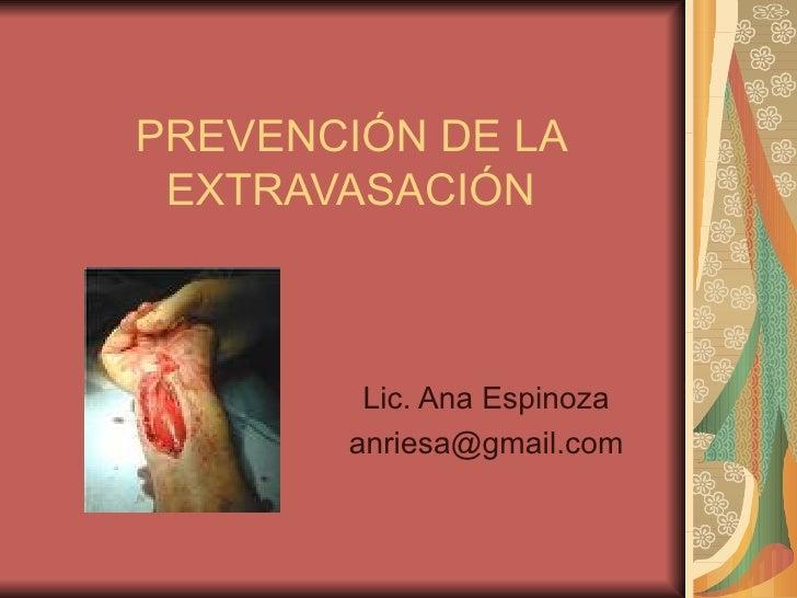 Prevención de la extravasación
