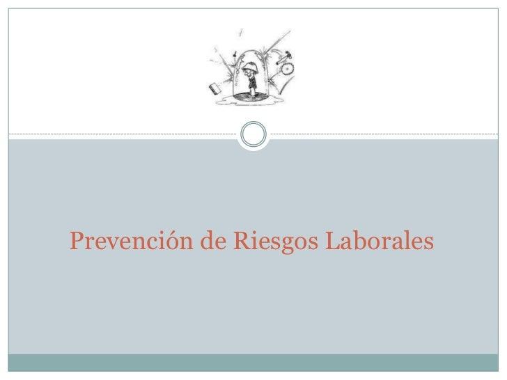 Prevención de Riesgos Laborales<br />