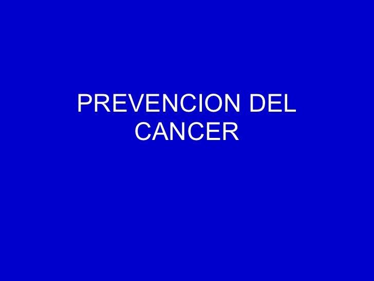 Prevencion del cáncer