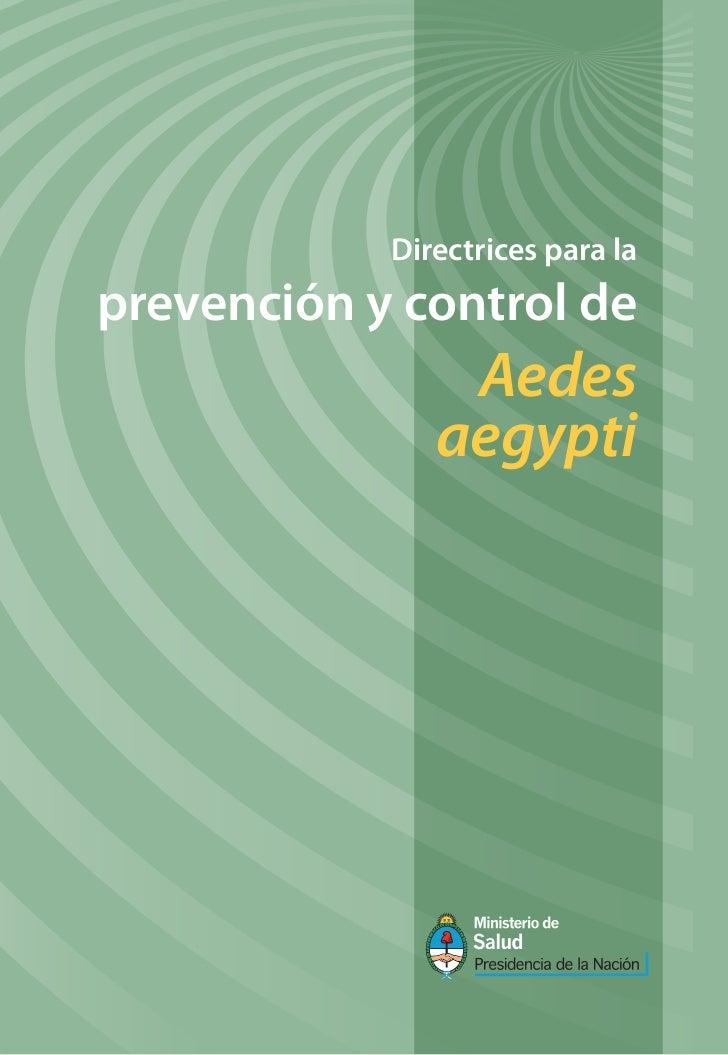 Prevencion de criaderos de Aedes aegypti