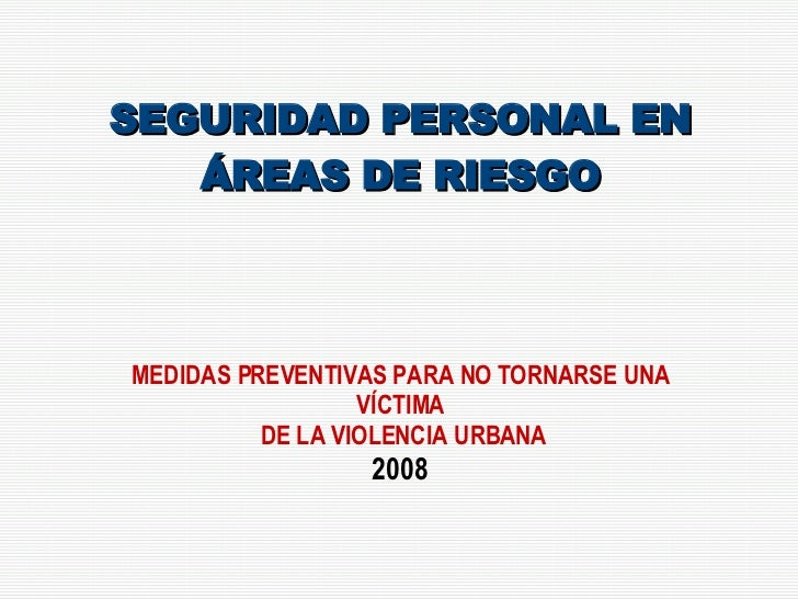 Prevencion Urbana