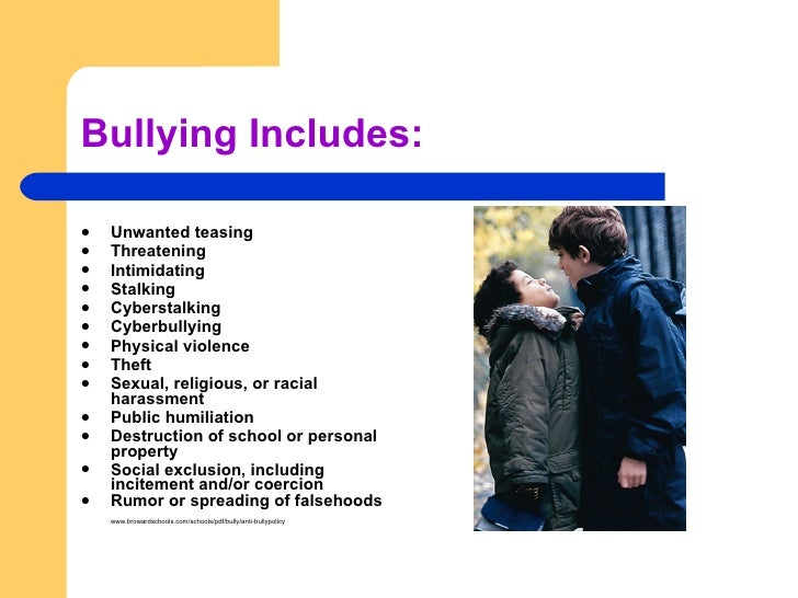 bullying humiliation and exclusion are all This sample workplace bullying policy applies to all employees exclusion: socially or public humiliation in any form.