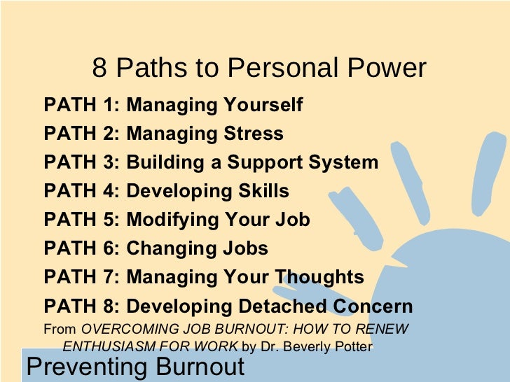 managing stress to prevent burnout